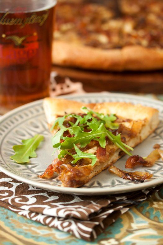 Caramelized Onion & Bacon Pizza