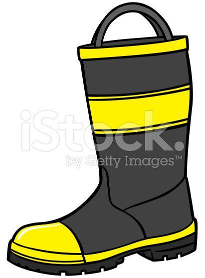 Fireman Boot royalty-free stock vector art