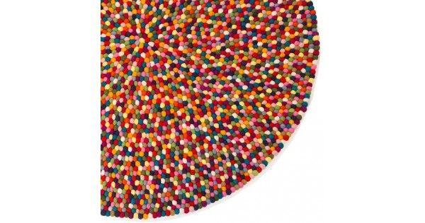 FELT BALL RUGS : Multicolour Felt Fall Rug