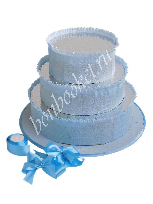 Купить в подарок Основа для торта из сока и барни голубая! Ручная работа. Авторский дизайн. Доставка по Москве. Закажите заранее!
