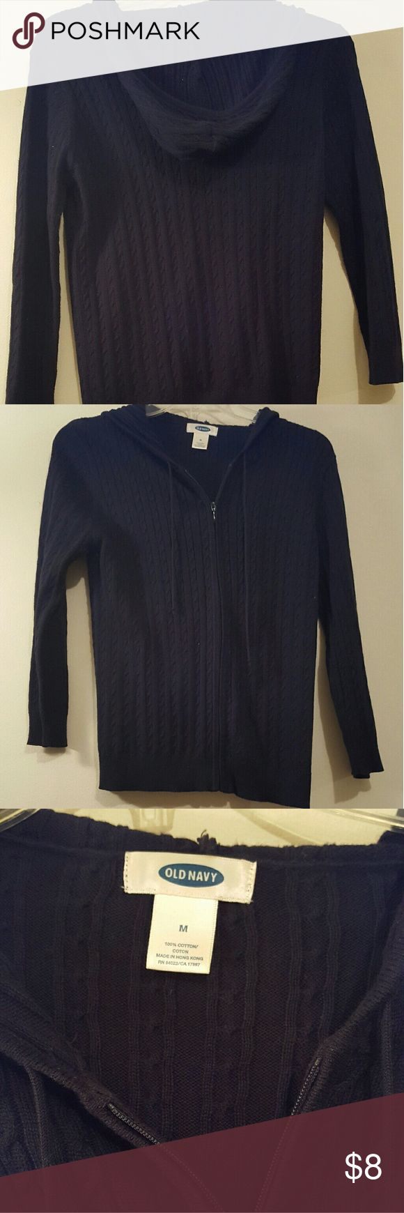 Old navy zip up sweater size Medium Black Old navy zip up sweater size Medium Black Old Navy Sweaters Cardigans