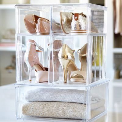 Great ways to store shoes.