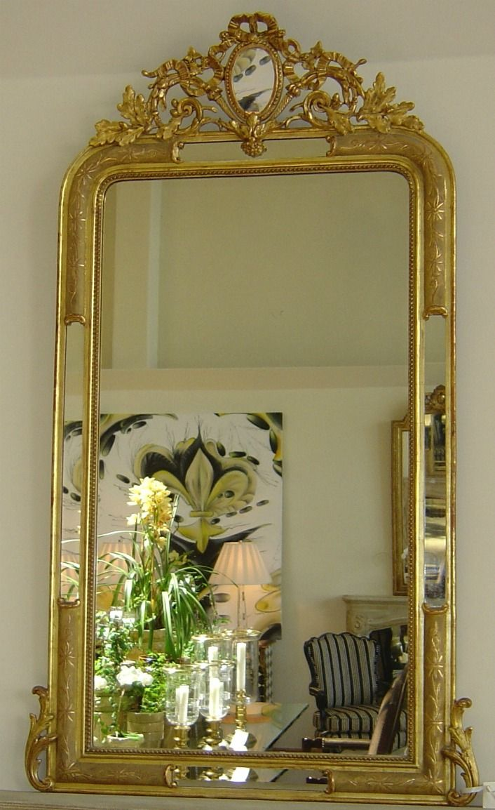 Antique French Third Republic Gilt Mirror  PacificHeightsPlace.com
