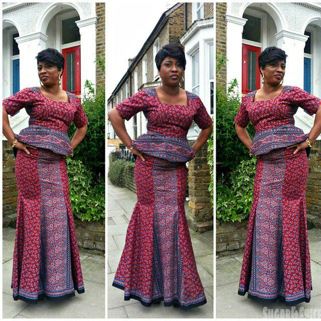 Ankara skirt and Blouse Style http://www.dezangozone.com/2015/07/ankara-skirt-and-blouse-style_26.html