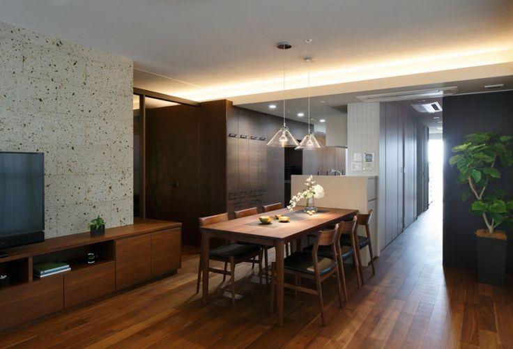 ダイニング・キッチン(石と木がつくる趣の家) - キッチン事例|SUVACO(スバコ)