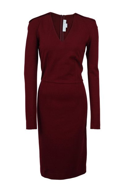 #StellaMcCartney Burgundy V-Neck Dress SZ4 - RECENTLY REDUCED!  Now: $500.00 #LoveThatCloset #Designer #Consignment #Sale #Dress