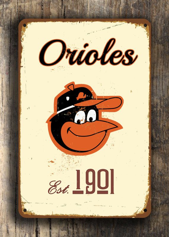 Vintage style BALTIMORE ORIOLES Sign Baltimore by FanZoneSigns