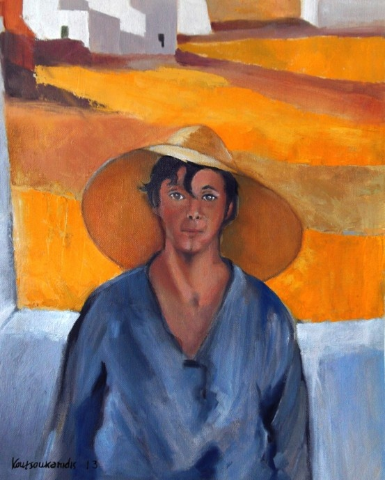 Study of The Straw Hat, 1925 Nikolaos Lytras (Greek, 1883-1927), an expressionist Greek painter.
