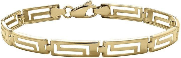 JCPenney FINE JEWELRY Infinite Gold 14K Yellow Gold Greek Key Bracelet