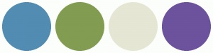ColorCombos.com color schemes, palettes, combinations with hex colors 528CB3, 829D51,E6E6D5,6D529E