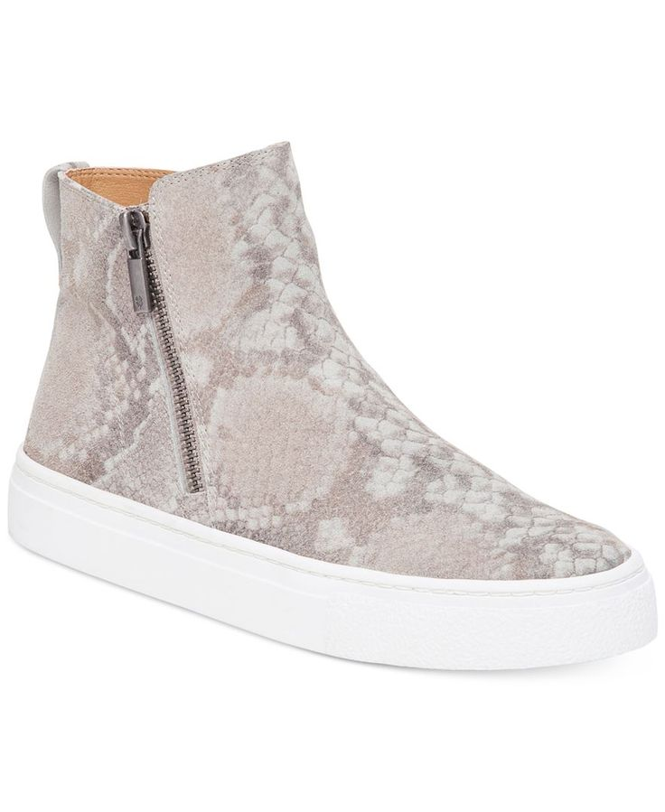 High-tops go sleek in the refined bootie styling of these zippered Bayleah sneakers from Lucky Brand. | Leather upper; manmade sole | Imported | Round closed-toe high-top sneakers | Zipper closure at