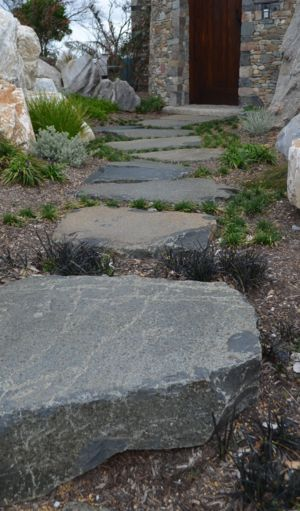 Basalt Steppers from Rock Flat Basalt look amazing leading up to this front door.