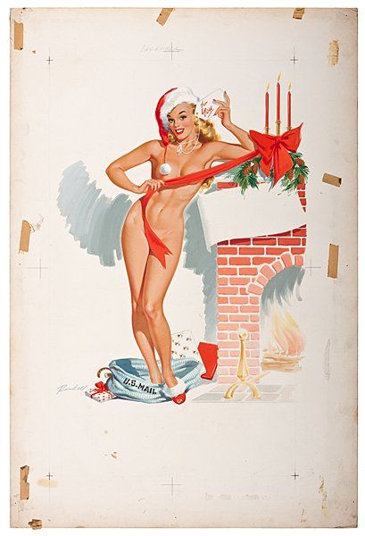 For You Christmas Pin-Up Girl by Bill Randall