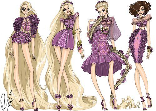 Disney Fashion Frenzy - Rapunzel Set By Daren J