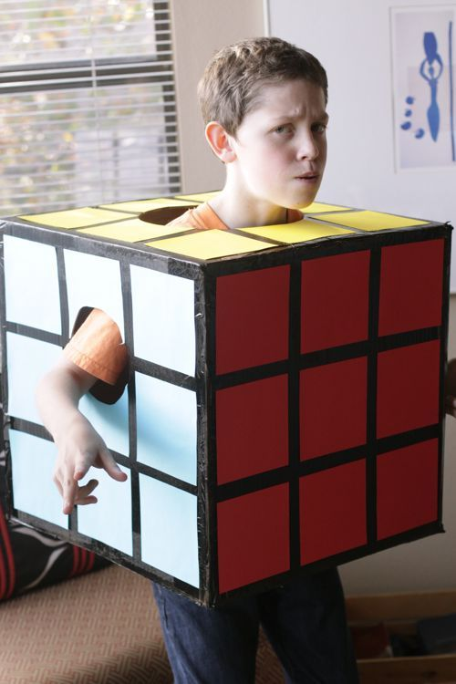 If you haven't been a box for Halloween, your childhood was not complete  RubiksCubeDIY11-http://www.designmom.com/2010/10/halloween-2010/#