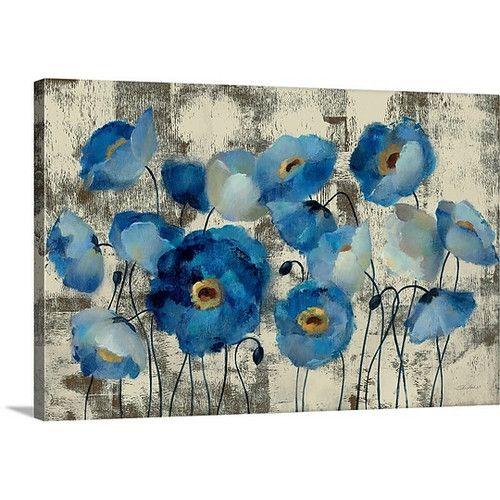 Great Big Canvas Aquamarine Floral by Silvia Vassileva Gallery ...