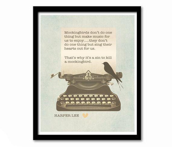 To Kill a Mockingbird Harper Lee Quote by ThePrintDesignStudio