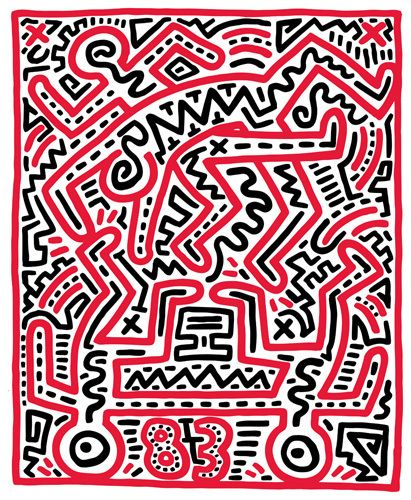 Fun Gallery Exhibition 1983 by Keith Haring - art print from Easyart.com