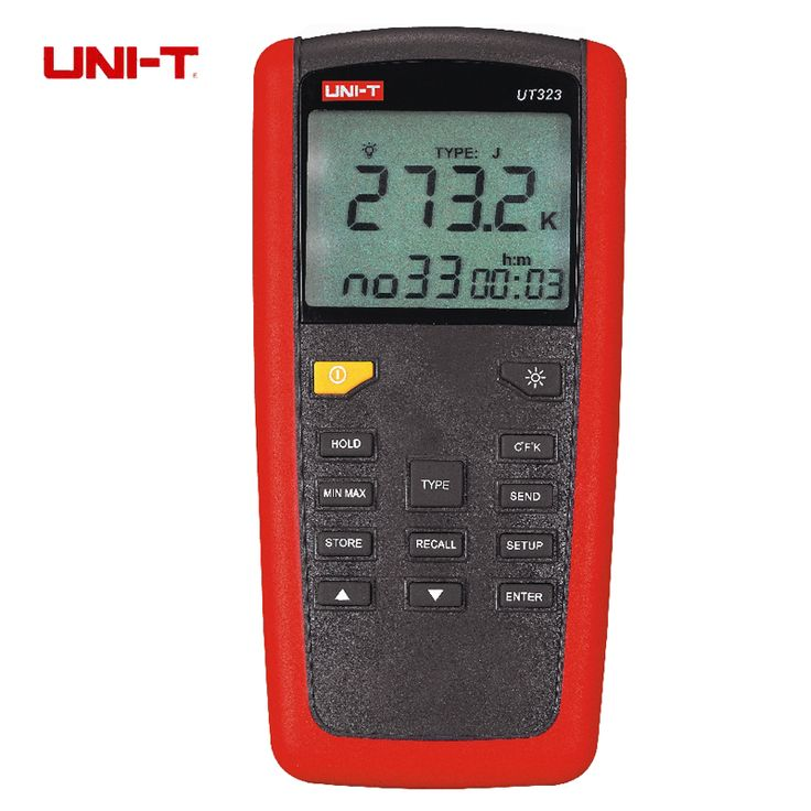 Uni-t UT323 termometro Digital Sensor de temperatura Tester com alta / baixa de alarme e a Auto