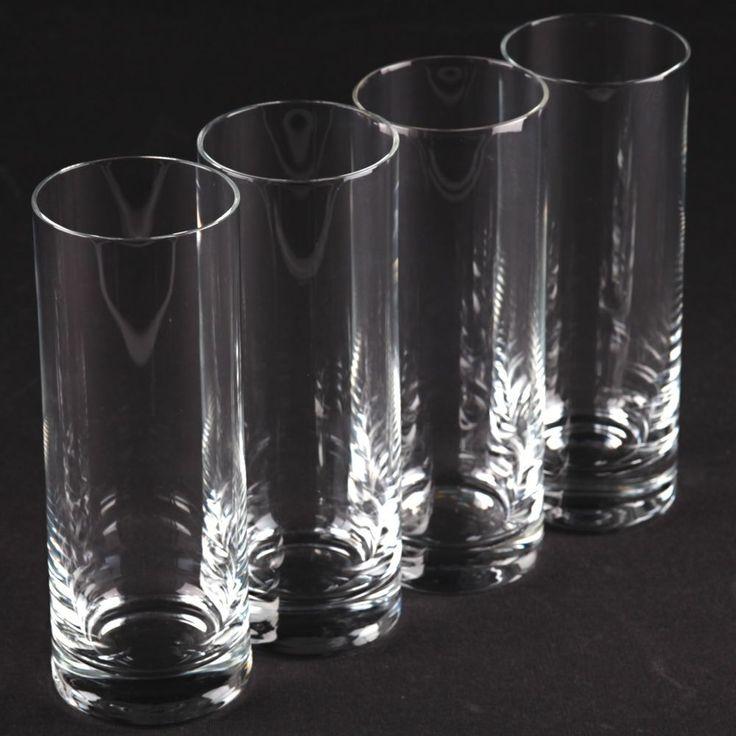 4 Vintage klassisch moderne Longdrinkgläser Design schlicht Cocktail Gläser H1F