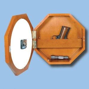 Amazoncom Wall Clock w Hidden Gun Compartment Everything Else