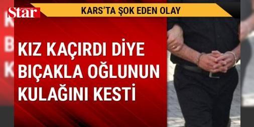 Kız kaçıran oğlunun kulağını kesti: Alınan bilgiye göre, M.E.Y. sosyal medya üzerinden tanıştığı Ankara'daki H.A'yı, evlenme vaadiyle yaşadığı ilçedeki evine götürdü.   Durumu öğrenince sinirlenen baba D.Y, iddiaya göre eşi H.Y. ve iki oğlunu evde bir sandalyeye bağladı.   Baba D.Y,  kız kaçırdığı  gerekçesiyle darbettiği oğlu M.E.Y'nin bıçakla sağ kulağını kesti.   Evden kaçan M.E.Y, jandarma ekiplerine sığınarak durumu bildirdi.   Kars Harakani Devlet Hastanesine kaldırılan M.E.Y'nin…