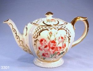 Gibsons Ribbons and Roses Vintage Teapot
