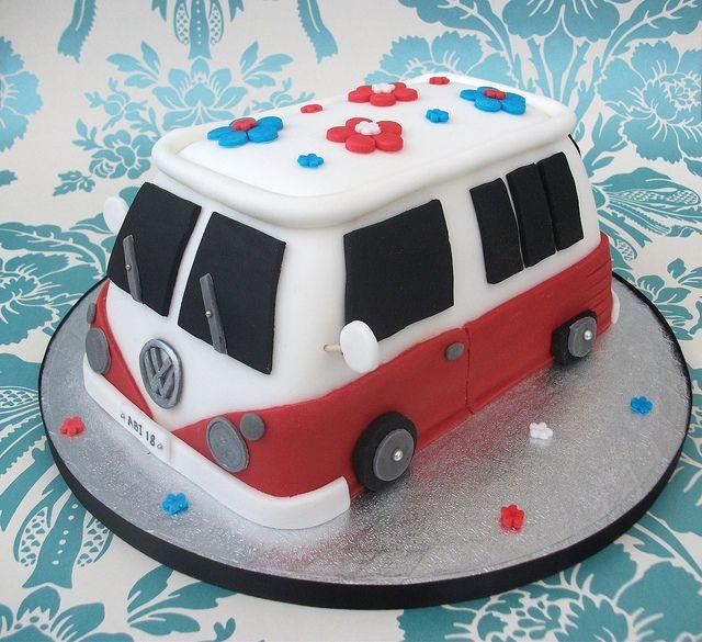 volkswagen birthday cakes | VW Camper Van 18th Birthday Cake | Flickr - Photo Sharing!