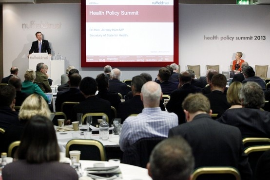 The new health and social care landscape: In this video, Rt Hon Jeremy Hunt MP, Secretary of State for Health, talks to Nuffield Trust Chief Executive, Dr Jennifer Dixon, about developing excellence  in the NHS.
