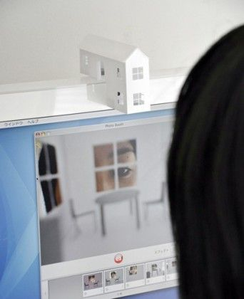 house for your webcam turns you into a giant! what a great idea for telling stories to children when you are not living near them!