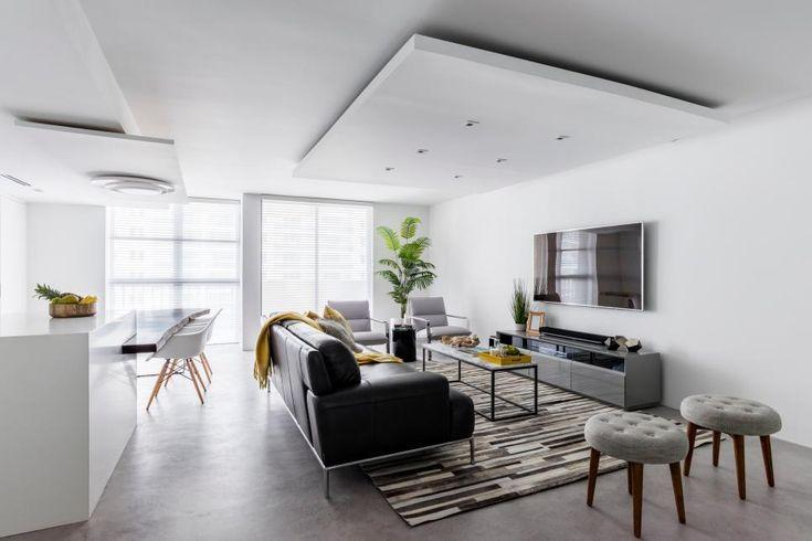 Современная гостиная с открытой планировкой Натали Милаццо