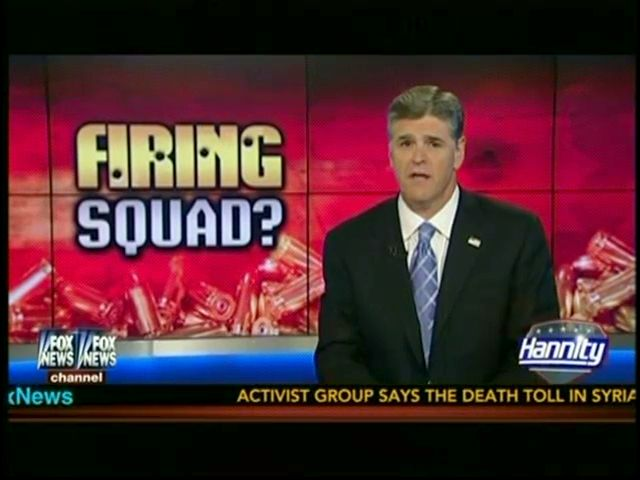 "Hannity Presents Execution By Firing Squad As Humane Alternative To Botched Oklahoma Execution Hannity: ""After What Happened In Oklahoma, I Mean, You're Not Going To Mess Up A Firing Squad, Right?"""