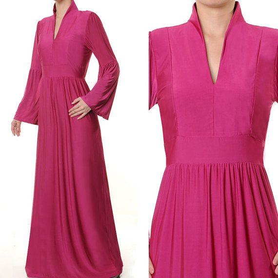 Fashion Islamic Mandarin Neck Abaya Long Sleeves by MissMode21, $32.00