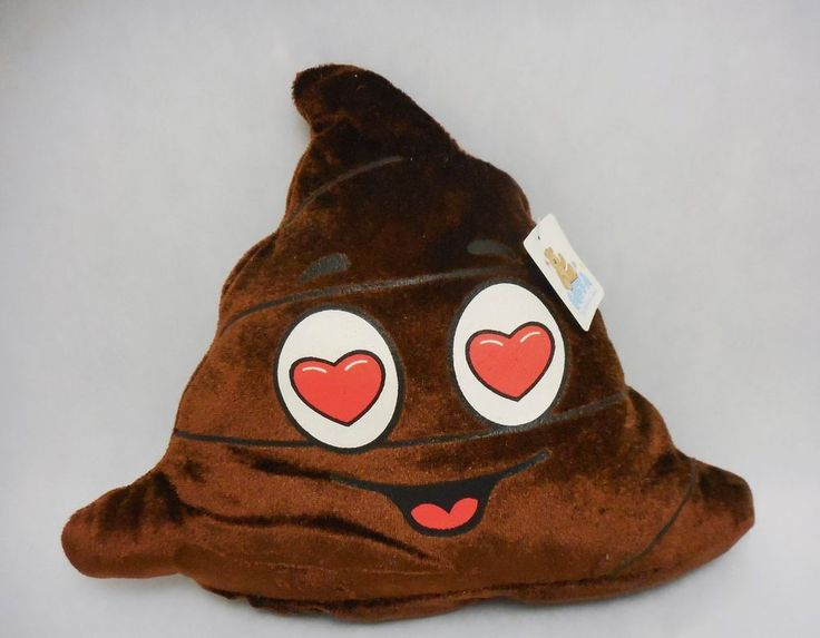 Goffa plush Brown Poop Emoji with Heart Eyes #GoffaInternational