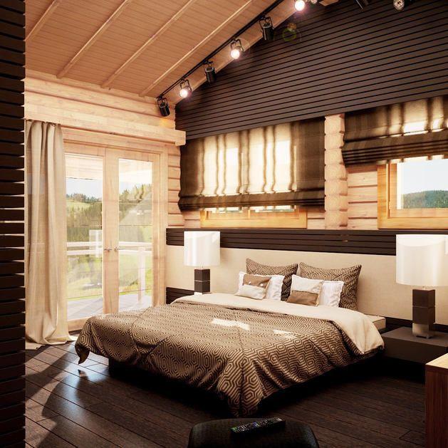 Фото из статьи: Стильный сруб: современный деревянный дом в Подмосковье
