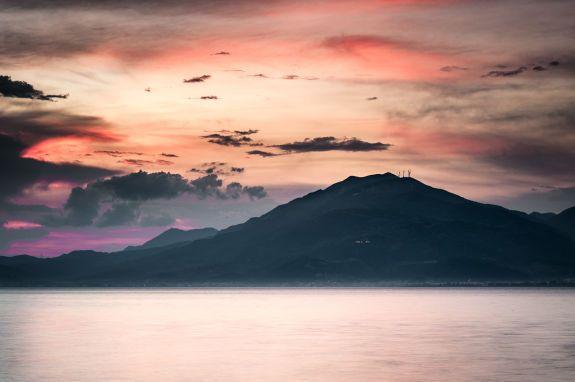 Rodini-Korinthian Gulf, sunset