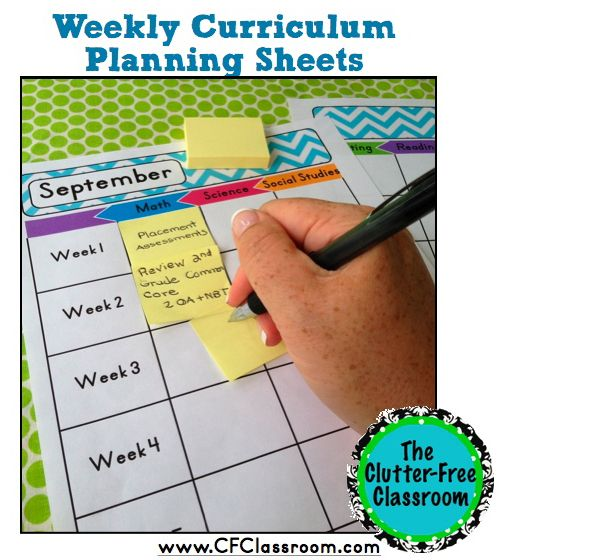Make weekly lesson planning a breeze with this resource from Jodi at the Clutter Free Classroom!