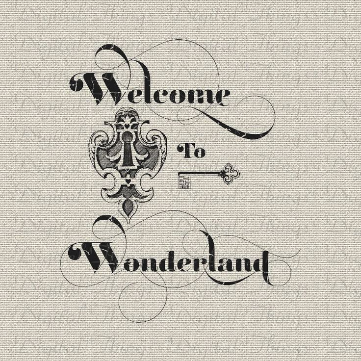 Alice In Wonderland Key and Keyhole Lewis Carroll Digital Download for Iron on…