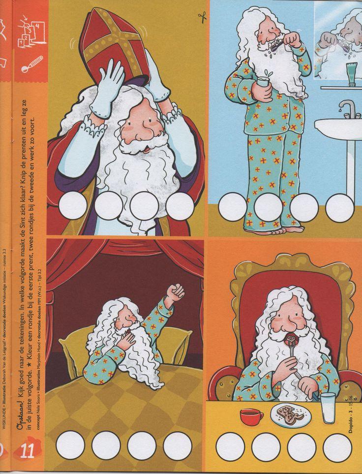 Chronologische volgorde - Wat doet Sinterklaas eerst, wat daarna, ...? (Dopido)