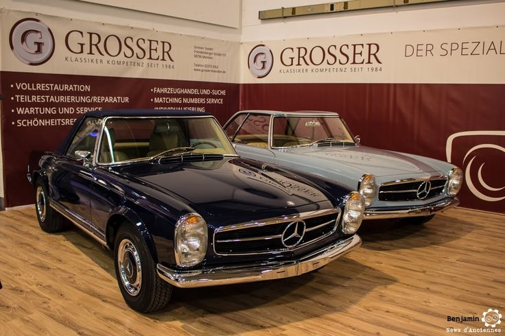 #Mercedes_Benz #Pagode au salon #TechnoClassica Essen reportage complet : http://newsdanciennes.com/2016/04/11/techno-classica-essen-reportage-plus-grand-salon-deurope/ #ClassicCar #VintageCar #Voiture #Ancienne