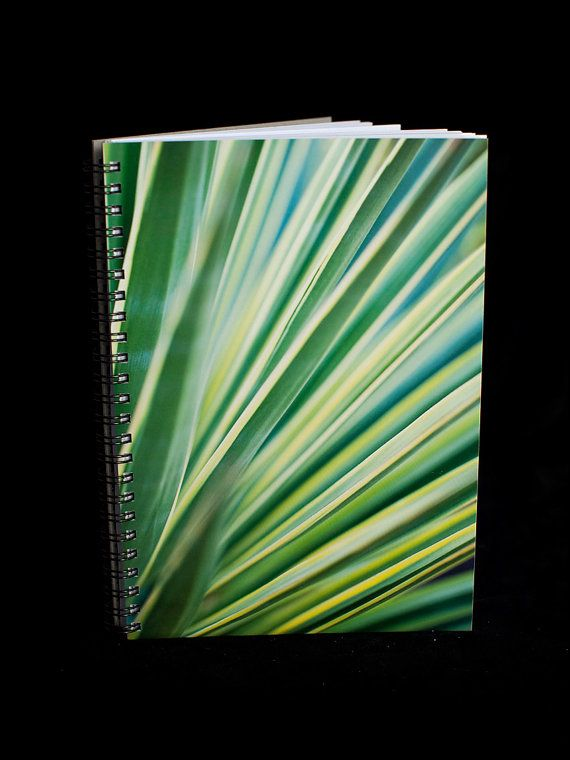 Green Notebook  A5 size 90 blank pages green by ErinnaImagery, $15.00