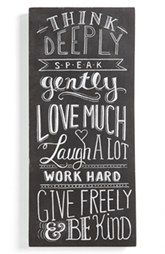 Primitives by Kathy 'Think Deeply' Chalk Sign $44