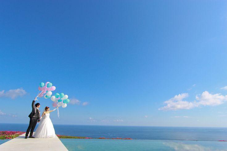 15時挙式 挙式後撮影 バルーンリリース #bali #wedding
