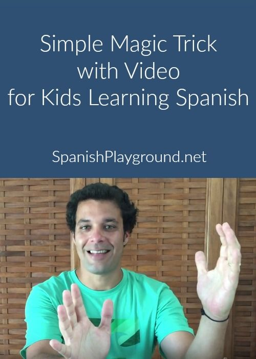 Simple magic trick for kids performed in basic Spanish. The video teaches kids the verb estar as a bear disappears! Kids can learn to do the trick too.