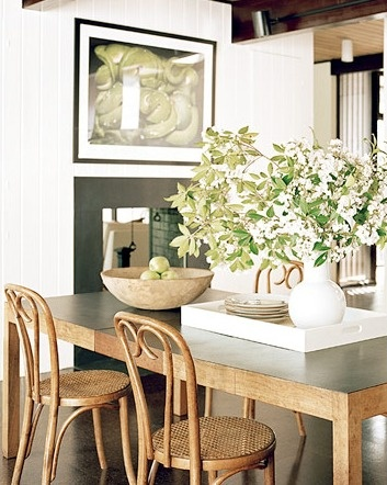 love the dining table styling