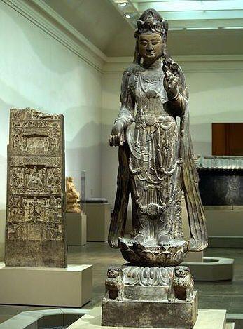 美國波士頓美術館藏隋代觀世音菩薩立像