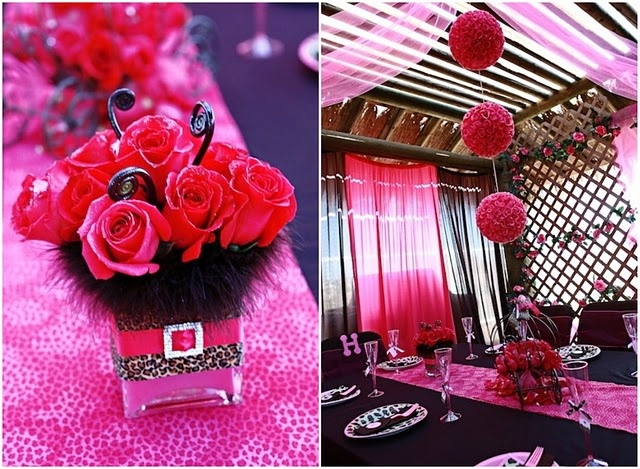 More pink & leopard party ideas This theme could work for any party I think..