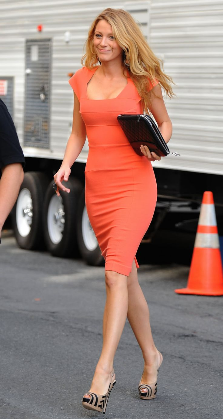 Blake Lively. I may have just bought almost the same dress :/
