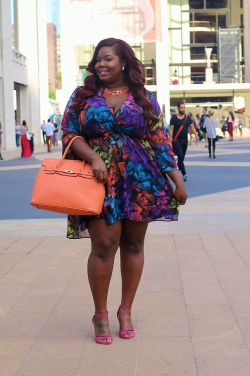 Plus size girls in short dresses
