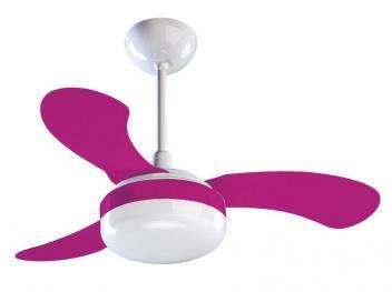 Ventilador de Teto Ventisol Petit 3 Pás - 3 Velocidades Rosa